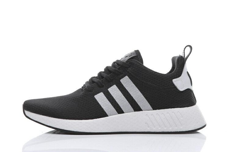 Adidas Originals NMD 2代條紋系列 黑白 男款