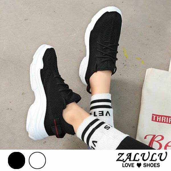 ZALULU愛鞋館7EE047預購輕量透氣款韓版明星熱愛布鞋-偏小-黑白-36-39