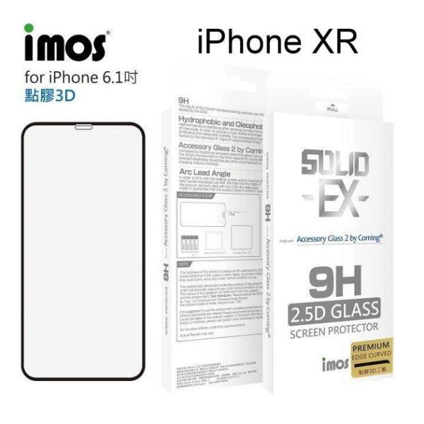 【愛瘋潮】iMOS2.5D康寧神極點膠3D滿版iPhoneXR玻璃螢幕保護貼美觀防塵美國康寧授權