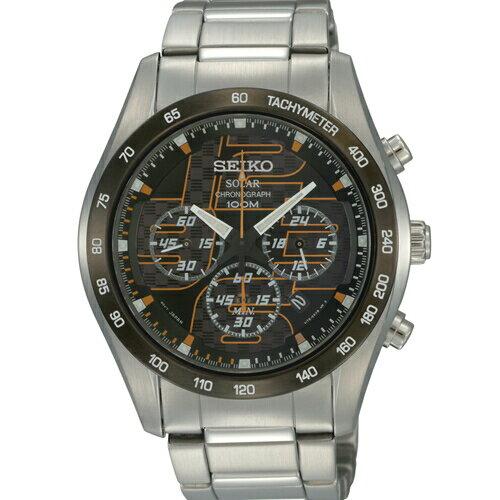 SEIKO三眼計時日期顯示男錶黑面SSC067P1(V175-0AN0O)