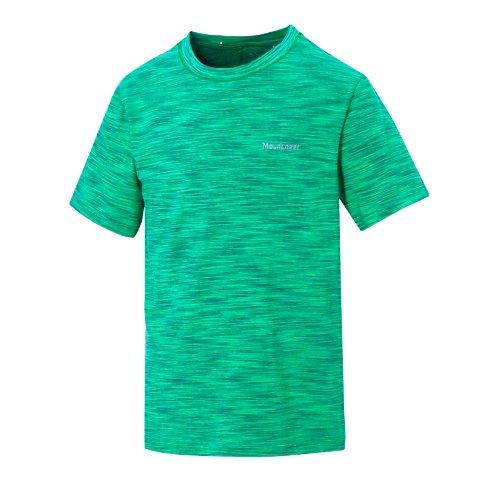 【【蘋果戶外】】山林31P25-72綠Mountneer男透氣抗UV圓領上衣吸濕排汗衣超彈性涼爽吸濕快乾透氣除臭