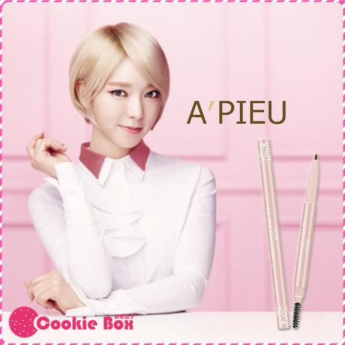 韓國 韓系 彩妝 APIEU 完美女孩 雙頭 眉筆 眉刷 臉部 妝容 AOA 代言 品牌 (0.1g/支) *餅乾盒子*