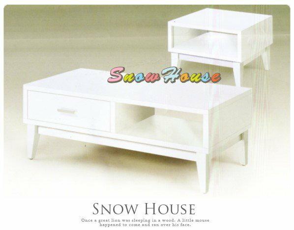 ╭☆雪之屋居家生活館☆╯AA443-05 374安琪白色小茶几(木芯板/實木腳)/收納櫃/置物櫃/造型几/69公分寬