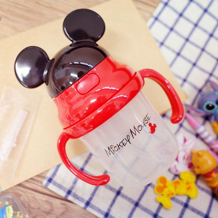 PGS7 日本迪士尼系列商品 - 日本 迪士尼 雙把手 彈跳 吸管 水壺 水瓶 米奇 米老鼠 【SEZ7214】