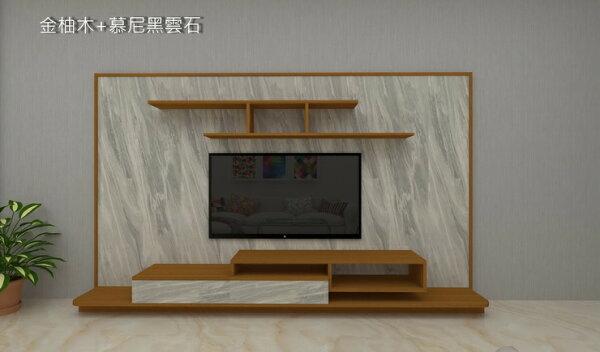 HL1001(8尺)電視牆組電視櫃層架吊櫃屏風牆面展示