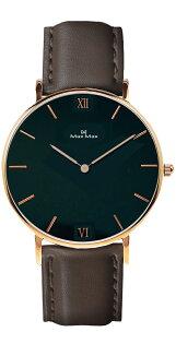 【完全計時】手錶館│MaxMax極簡主義MAS7025-1布朗皮帶時尚黑大錶徑