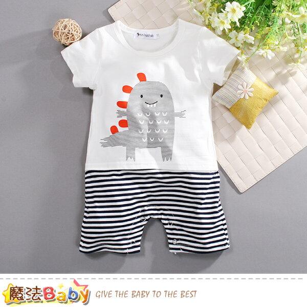 包屁衣嬰幼兒夏季短袖連身衣魔法Baby~k50723