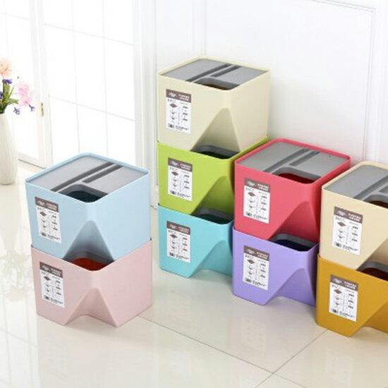 ?MY COLOR? 可堆疊分類垃圾桶 回收 環保 衛生 乾淨 廚房 居家 辦公室 疊加 收納桶【Z78】
