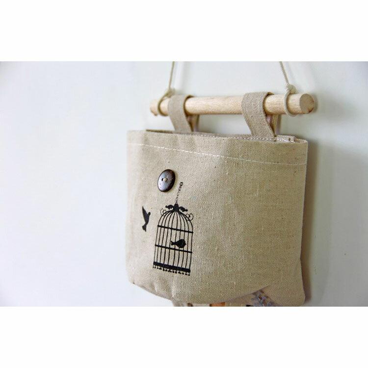 壁掛袋 多層收納袋 置物袋  16*16.5*7【ZA0064】 BOBI  09/14 2