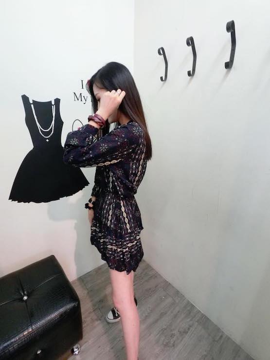 正韓民族風雪花前綁帶洋裝(現/預)2色 2