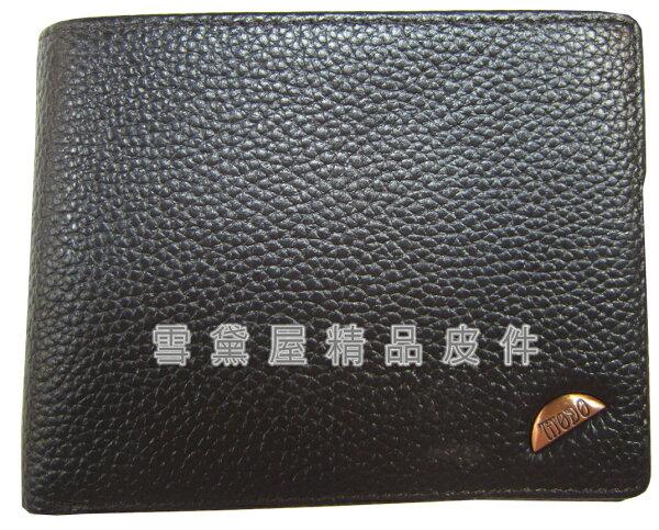 ~雪黛屋~MODO短夾專櫃男仕短型皮夾100%進口牛皮革材質特殊加長尺寸固定型證件夾BMD0292340