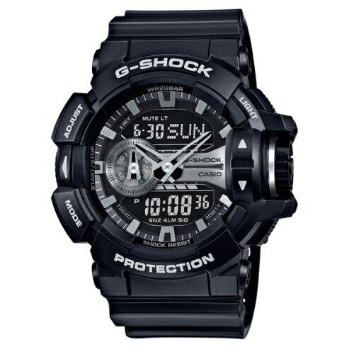 CASIO/G-SHOCK/完美街頭雙顯運動錶/黑/GA-400GB-1ADR