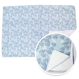 【淘氣寶寶】韓國ORGANICFACTORY棉柔毯-藍色小花【保證公司貨】