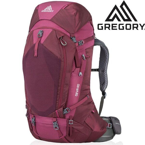 Gregory後背包登山背包背包客背包健行Deva60女款專業登山包916226400李子紅