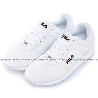 情侶鞋推薦到Shoestw【1-J903S-113】FILA 阿甘鞋 休閒鞋 皮革 白色 男生尺寸 情侶鞋 版型正常就在鞋殿推薦情侶鞋