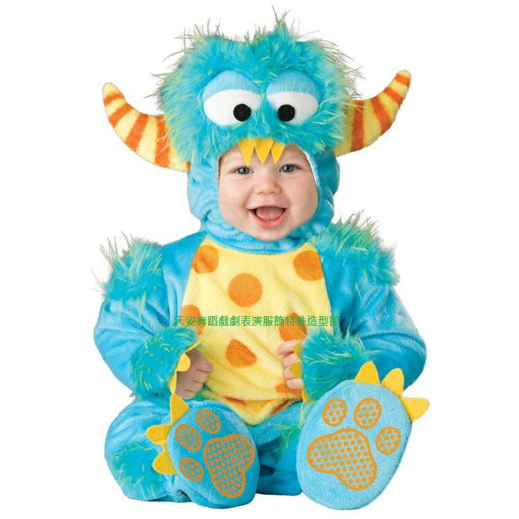 BABY005怪獸小寶寶造型服聖誕節外出棉服男女加厚嬰兒連身套裝