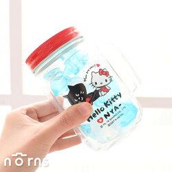 【Hello Kitty×NYA-貓玻璃梅森杯】Norns 寬口玻璃罐 吸管杯 沙拉罐 儲物罐 梅森瓶 凱蒂貓 三麗鷗 三宅一生 果汁果昔杯