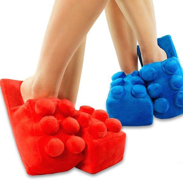 =優生活=Building Brick Slippers 創意樂高積木造型保暖拖鞋家居室內拖鞋 創意禮物