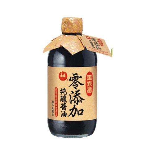 萬家香零添加純釀醬油450ml~愛買~