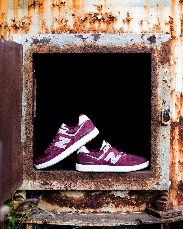 【New Balance】 復古鞋_中性_酒紅_AM574MRR-D楦 574