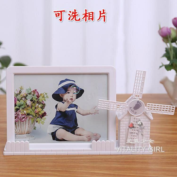 7寸精美高檔寶寶擺台創意兒童歐式婚紗相框七寸影樓相架新款【快速出貨】【全館免運 限時鉅惠】