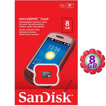 原廠密封SanDisk 8GB 8G microSDHC【C4】microSD micro SDHC 記憶卡 手機記憶卡