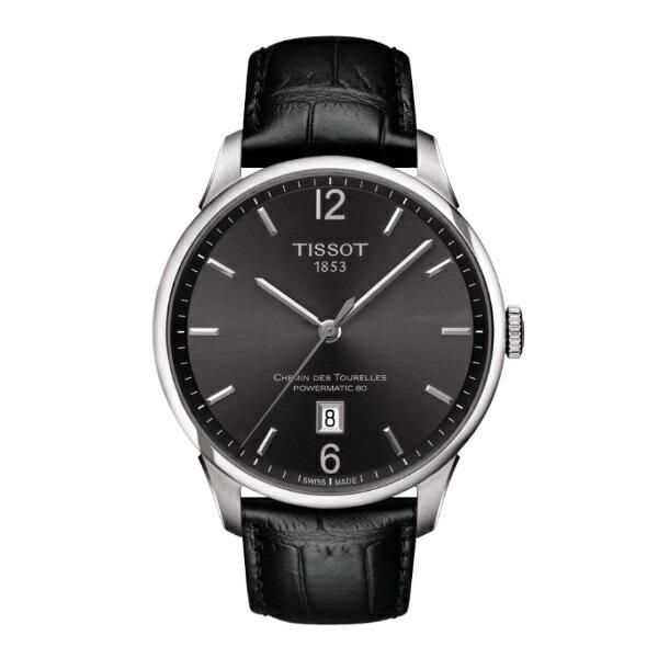 TISSOT天梭T0994071644700 杜魯爾經典80機械腕錶/黑面42mm