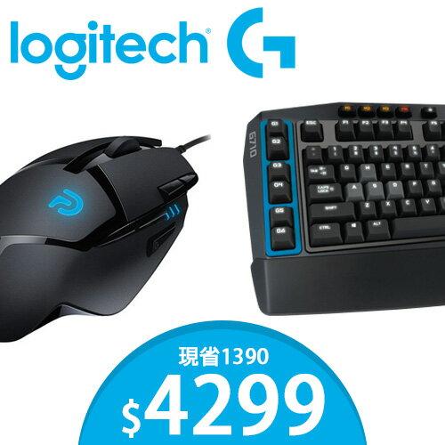 [加贈 G402 高速遊戲鼠 現省1390 ] Logitech 羅技 青軸 G710+ 機械遊戲鍵盤