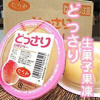 日本超人氣【どっさり生菓子果凍】水蜜桃水果風味!旬鮮果物在裡頭!!