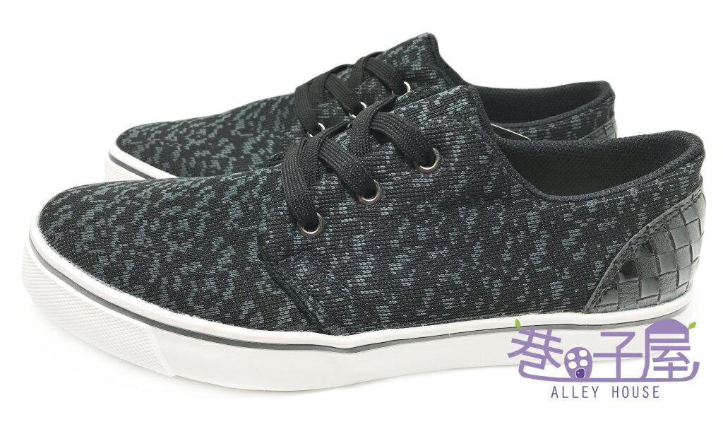 【巷子屋】吉梵范倫鐵諾 男款混色編織運動休閒鞋 [8357] 黑 台灣製造 超值價$250