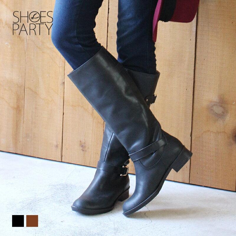 【B2-17430L】全真皮雙扣率性乘馬靴_Shoes Party 1