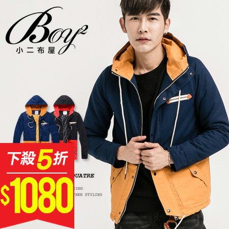 ☆BOY-2☆【NR00162】連帽外套休閒撞色拼接 0