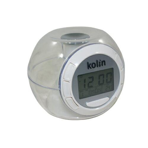 歌林KOLIN自然音多功能水晶貪睡鬧鐘/萬年曆/計時/溫度顯示