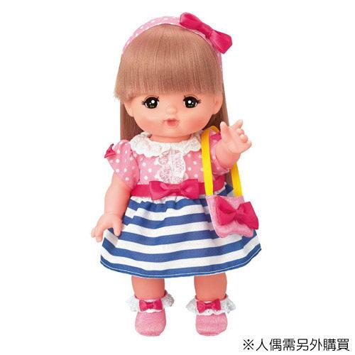 【小美樂娃娃】小美樂配件-藍紋小洋裝