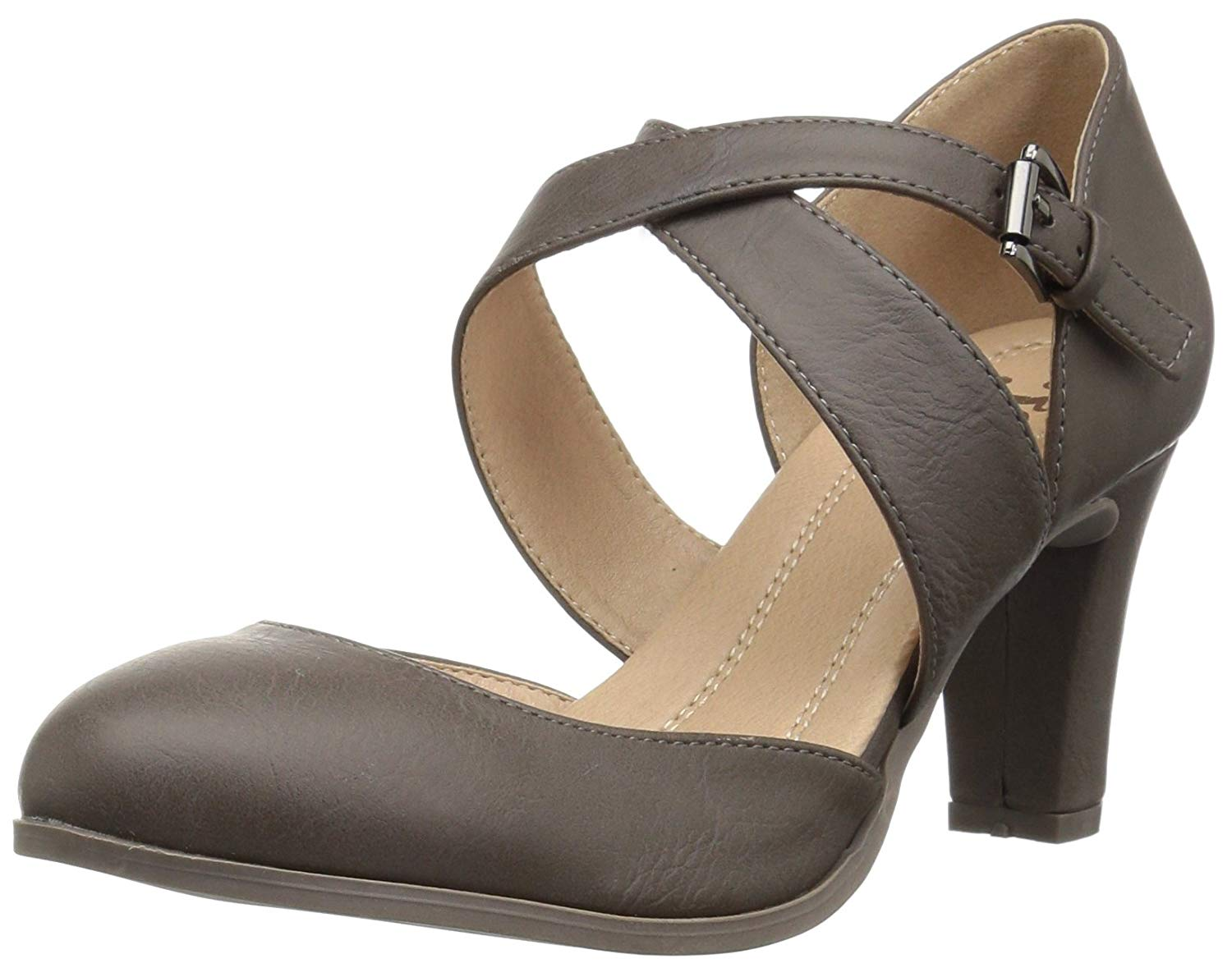 5c04fc30857ed PairMySole: Journee Collection Womens Ainsli Round Toe Ankle Strap ...
