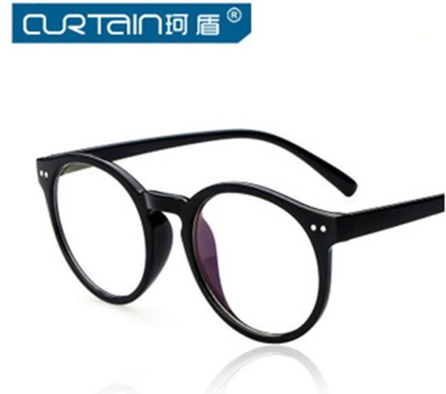 50%OFF【J009789Gls】尚米釘眼鏡框批發復古圓形眼鏡架潮 抗疲勞 附眼鏡盒 防紫外線 明星款 反光鏡面