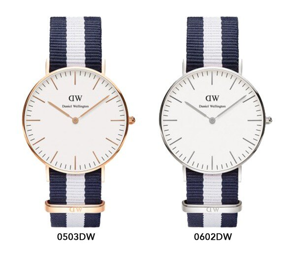 瑞典正品代購 Daniel Wellington 0602DW 銀  尼龍 帆布錶帶 女錶手錶腕錶 36MM 1