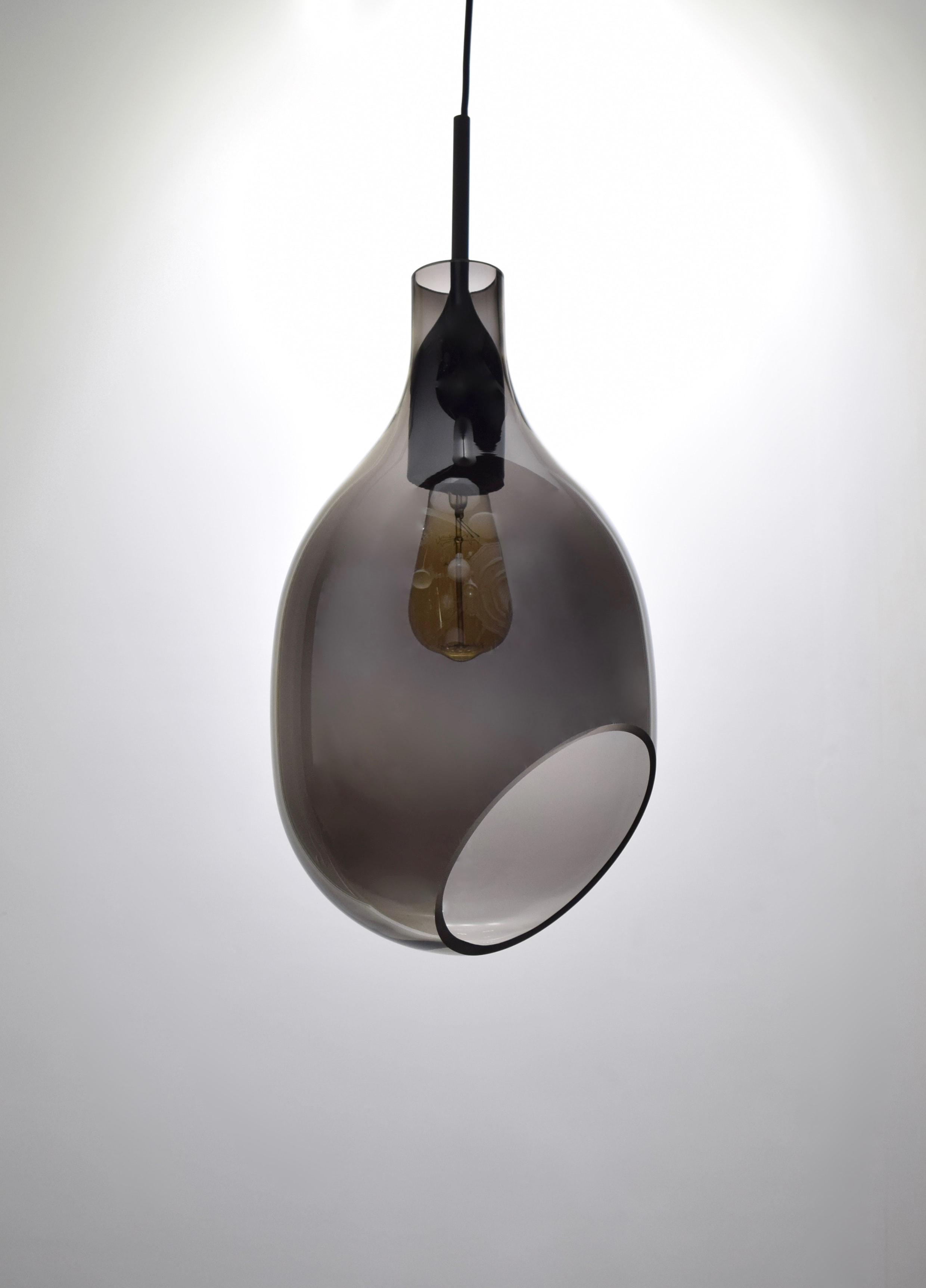 VESSEL 斜口玻璃煙灰色吊燈-BNL00127 3