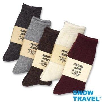 【SNOW TRAVEL】AR-24 (2入組) 美麗諾 羊毛襪 強化保暖效果達零下20度 羊毛混紡中筒襪(M/L)