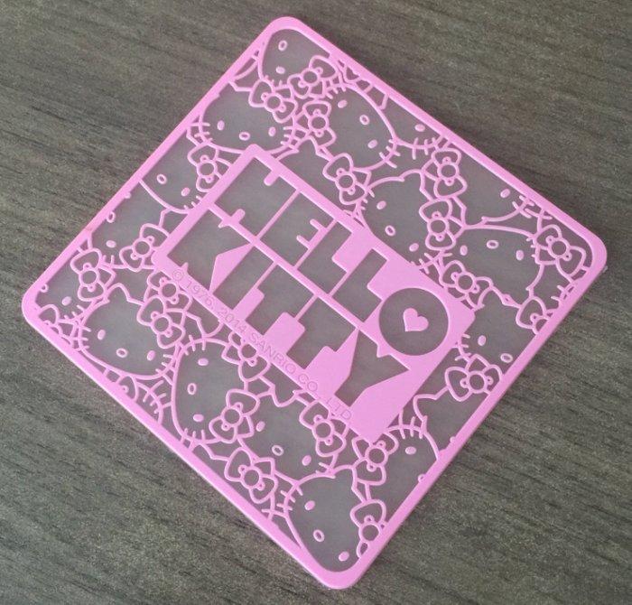 【真愛日本】14081500009 環保防滑杯墊-粉紅KT 凱蒂貓 三麗鷗 杯墊 生活用品
