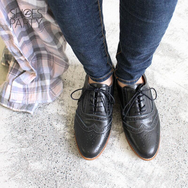【C2-18121L】外尖內圓真皮綁帶牛津鞋_Shoes Party 4