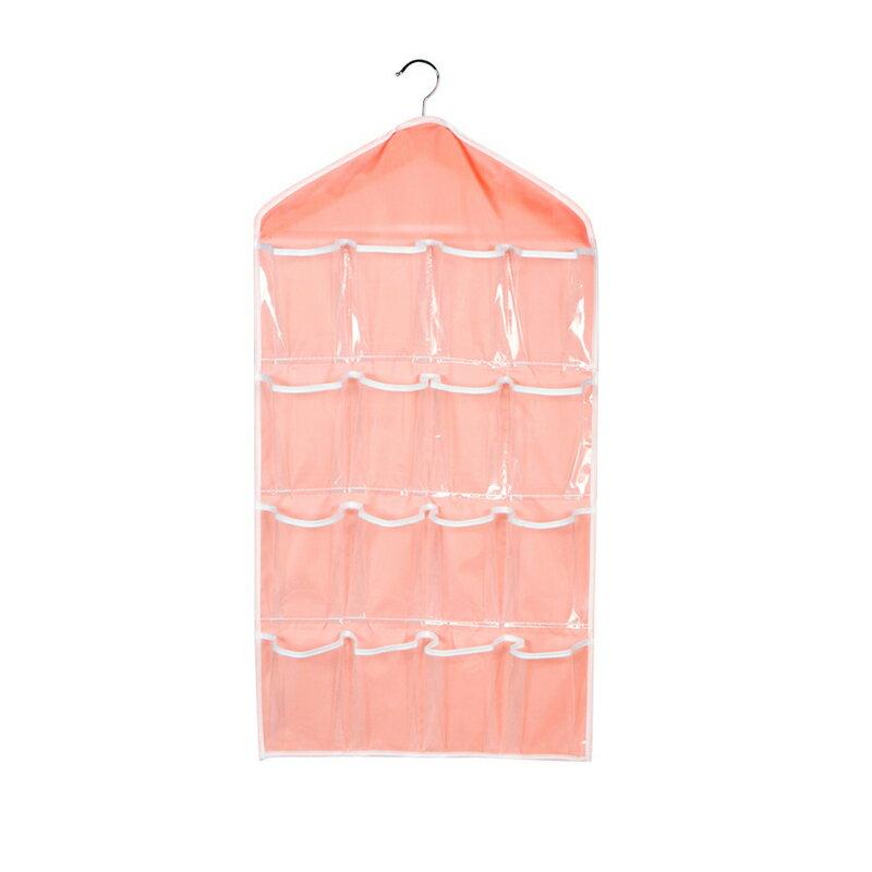 透明16格衣櫃收納掛袋 防水環保 多格襪子內衣收納袋 壁掛置物袋 掛式整理袋 牆掛式儲物袋【SA096】《約翰家庭百貨