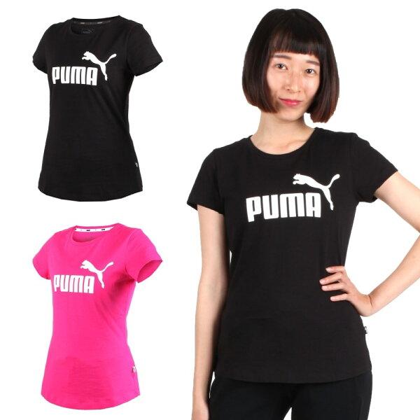 PUMA女基本系列LOGO短袖T恤(短T短袖上衣純棉【03312910】≡排汗專家≡