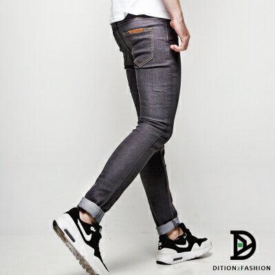 DITION 韓系丹寧SKINNY原色牛仔長褲 復古極窄版