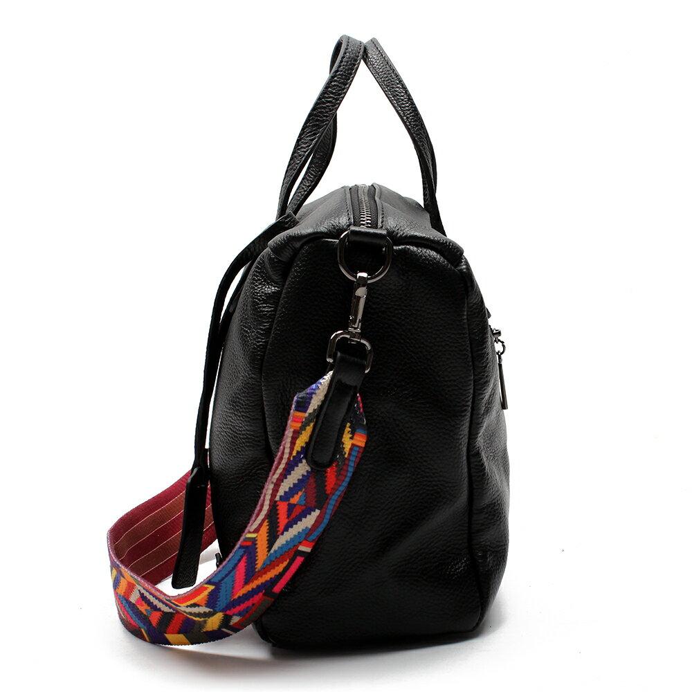 【BEIBAOBAO】歐風編織背帶牛皮三用包(手提+側肩揹+斜背 三用包) 3