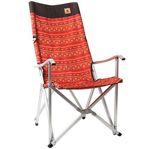 【鄉野情戶外專業】 KAZMI 豪華休閒折疊椅 露營椅 休閒野餐椅 -紅 K3T3C025RD