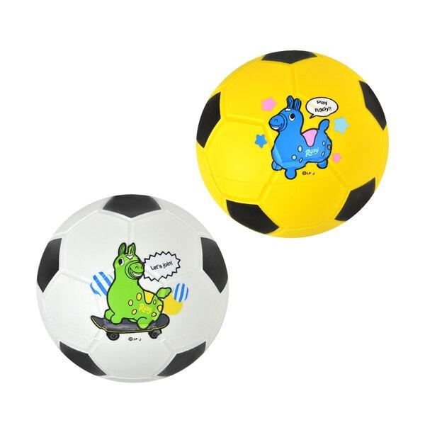 義大利 Rody 跳跳馬 授權 運動球-足球(單顆入-15cm)(顏色隨機)【紫貝殼】
