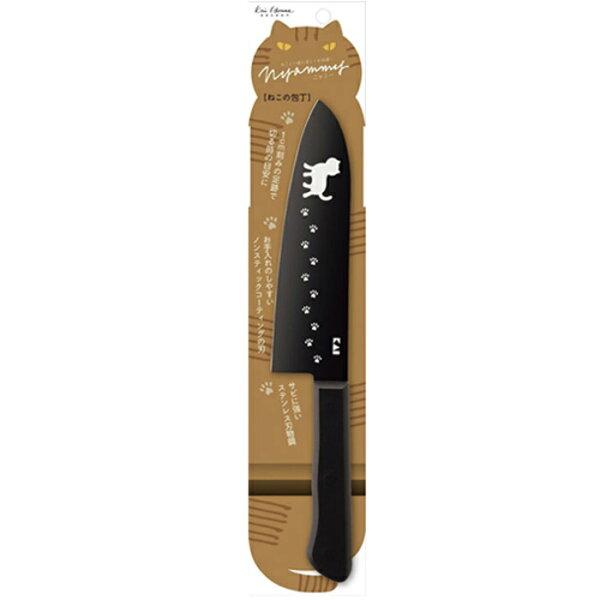 Kelly日韓嚴選:【貝印KAI】黑色貓咪廚房用刀