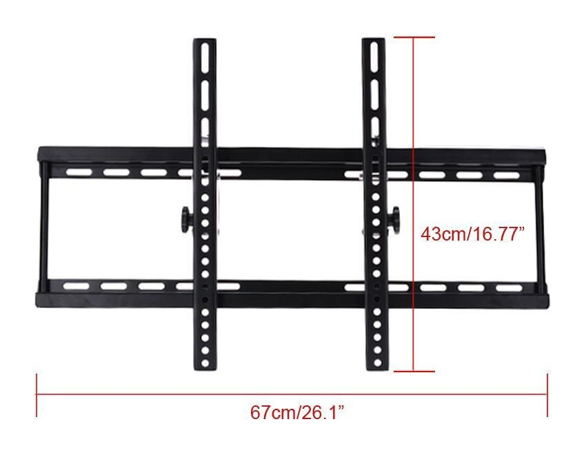 Black Adjustable Metal Tilting Television Wall Mount Bracket for 40-70inch 4
