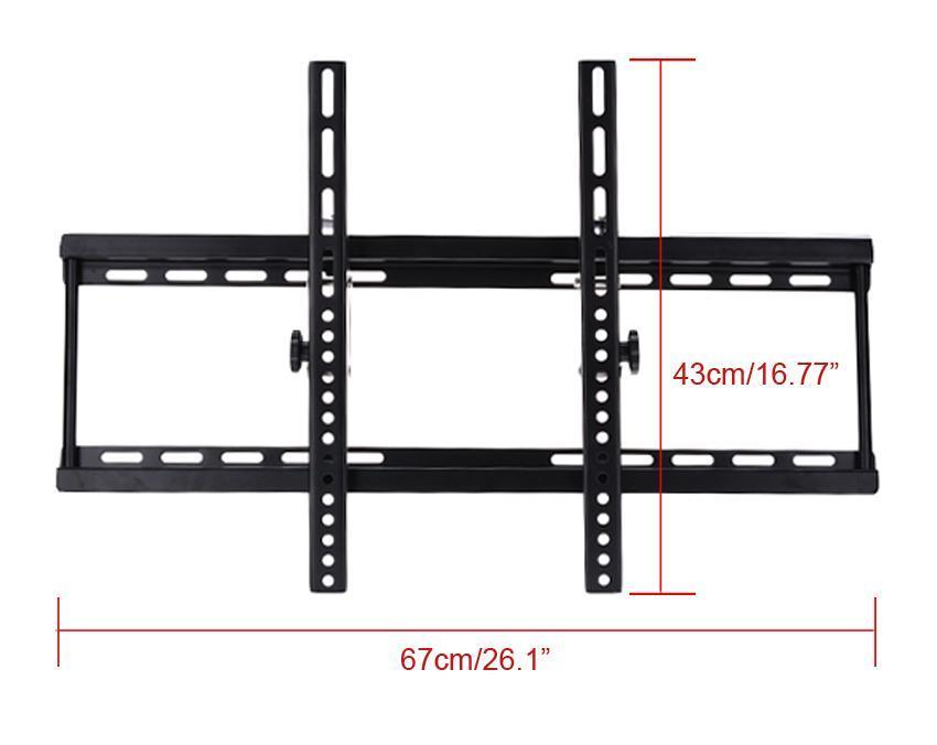 Black Adjustable Metal Tilting Television Wall Mount Bracket for 40-70inch 4